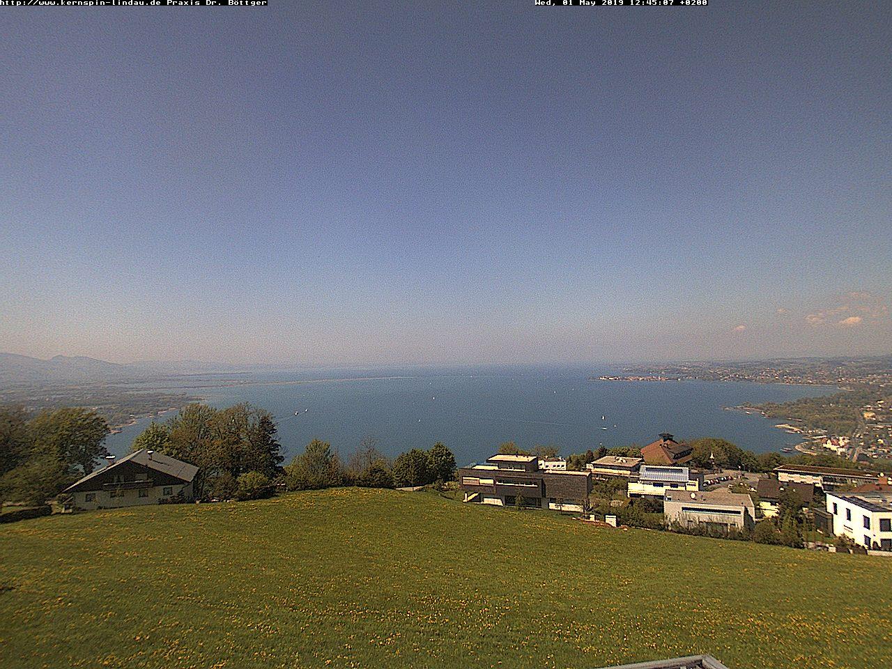 Lindau Skyline Panorama and Lake Constance